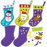 Kits de Couture Chaussettes de Noël à coudre pour enfants (Lot de 3)