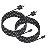 Kootek 2 Pcs 10ft Controller Charging Cable Sync for PS4 Pro / Slim / Regular Playstation 4 Controller Dual Shock 4 Xbox One Controller, Charger for Android, Galaxy, Sony, Samsung Phone
