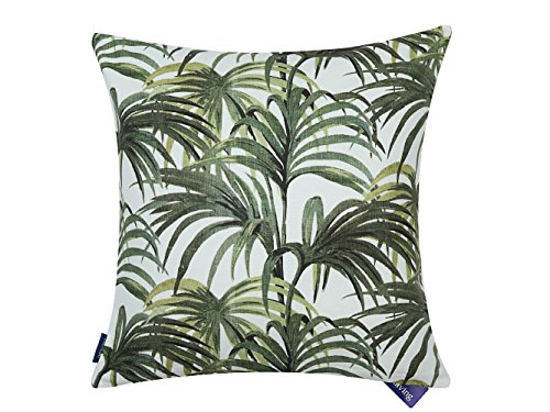 (Aitliving Couch Pillow Cover Palm Leaf Tropical Plants Leaves Decorative Cushion Pillow Case Green 50X50cm/20