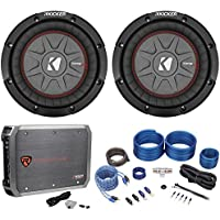 Package: (2) Kicker 43CWRT81 8 Subs Totaling 1200W W/1-Ohm DVC+Rockville RXD-M1 500W RMS-CEA Compliant Mono Class D 1 Ohm Car Amp+Rockville RWK41 4 Gauge 2 Channel Complete Wire Kit W/RCA Cables