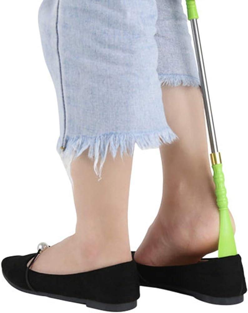 Calzador Asa Ergon/ómica Calzador Duradero De Estudio S/ólido para Zapatos Y Botas Calzado De Acero Inoxidable De Alta Resistencia por C/ómodos Pa/ños Paquete De 2,15cm Bocinas De Metal Bocina