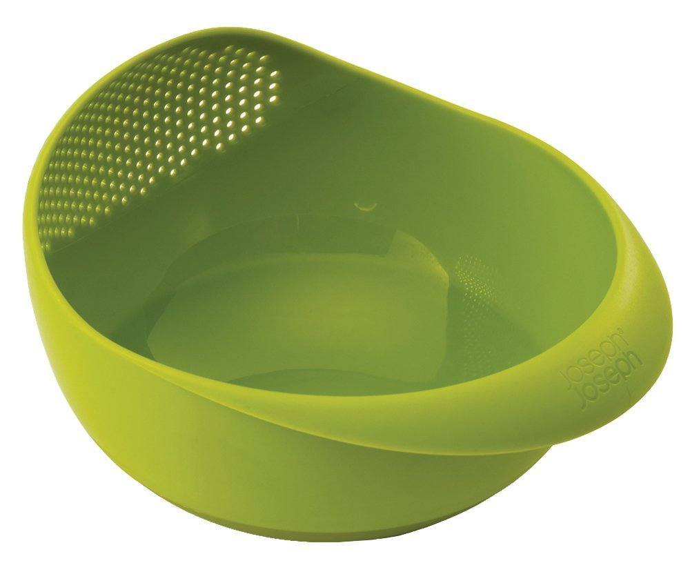 Joseph Joseph 40065 Prep & Serve Multi-Function Bowl with Integrated Colander, Small, Green