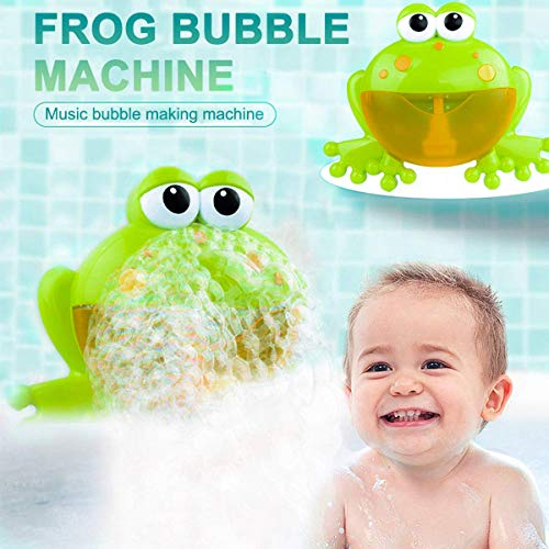 PBOX Frog Baby Bath Toy,Bubble Toy Musical Toy Bubble Maker with Nursery Rhyme Bathtub Bubble Toys for Infant Baby Children Kids Happy Tub Time,Bubble Machine for Boys and Girls Aged 1 2 3 4 (A) by PBOX (Image #1)