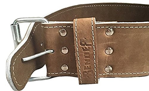 Genuine Leather Weight Lifting Belt For Men and Women Single Prong Design For Easy Adjustment 10mm Thickness Comfortable and Durable for Power Lifting, Crossfit, Olympic Lifting, and More