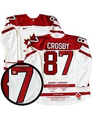 Sidney Crosby Signed Milestone Jersey Gm Model Canada 2010 White Golden Goal  L E 87 fb40cc380