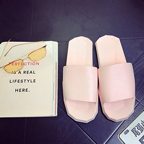 baños verano cool Zapatillas hembra parejas DogHaccd plástico de antideslizante zapatillas macho de verano casa Rosa1 casa en interior permanezca de hay Zapatillas las UwxHSZ