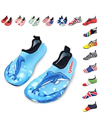 LYSHION Water Shoes Barefoot Quick-Dry Ultra-Light Breathable Aqua Socks for Beach Yoga Swimming Exercise Unisex