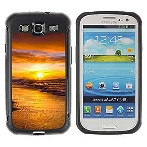 Pulsar Defender Series Tpu silicona Carcasa Funda Case para SAMSUNG Galaxy S3 III / i9300 / i747 , Sunset Sea Beautiful Nature 18