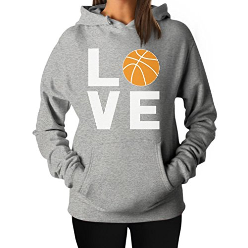 Love Basketball - Gift Idea for Basketball Fans / Player Cool Women Hoodie Medium Gray