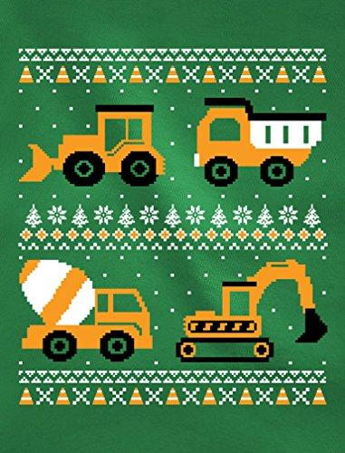 Tstars Im Digging Christmas Ugly Sweater Tractor Toddler//Kids Sweatshirt