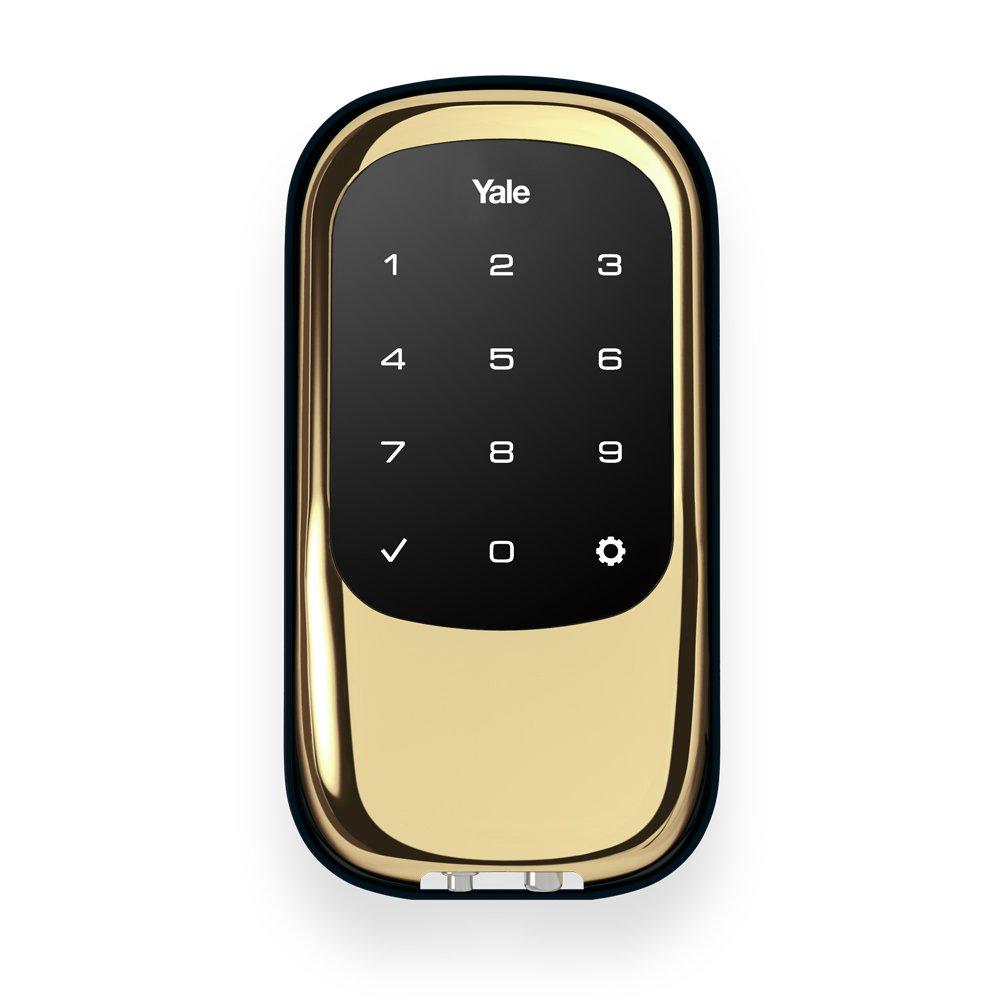 Yale Security YRD120-NR-605 Yrd120Nr605 Yale Real Living Yrd120Nr605 Keyless Touchscreen Stand Alone Deadbolt Bright Brass Finish, Polished Brass
