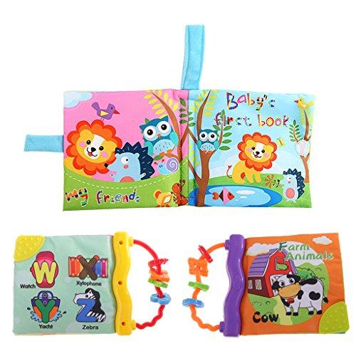 Gazechimp 3pcs Livre D Eveil Enfant Bebe Livre Education Mot