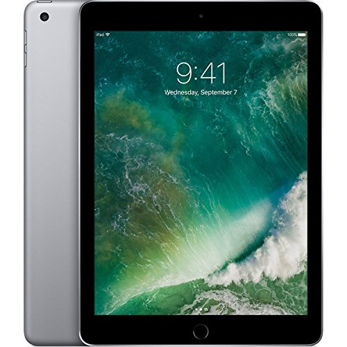 "Apple iPad 9.7"" with WiFi 32GB- Space Gray (2017 Model) (Refurbished)"