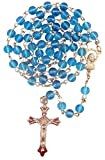 Blue Glass Prayer Rosary with 6mm Beads, Pack of 3