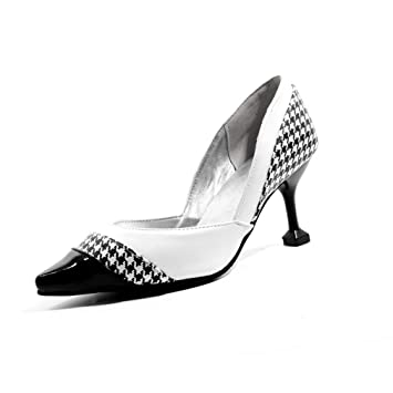 0bdc3c112050d Amazon.com: YXB Women's Stiletto Shoes 2019 New Pu Pointed Pumps ...