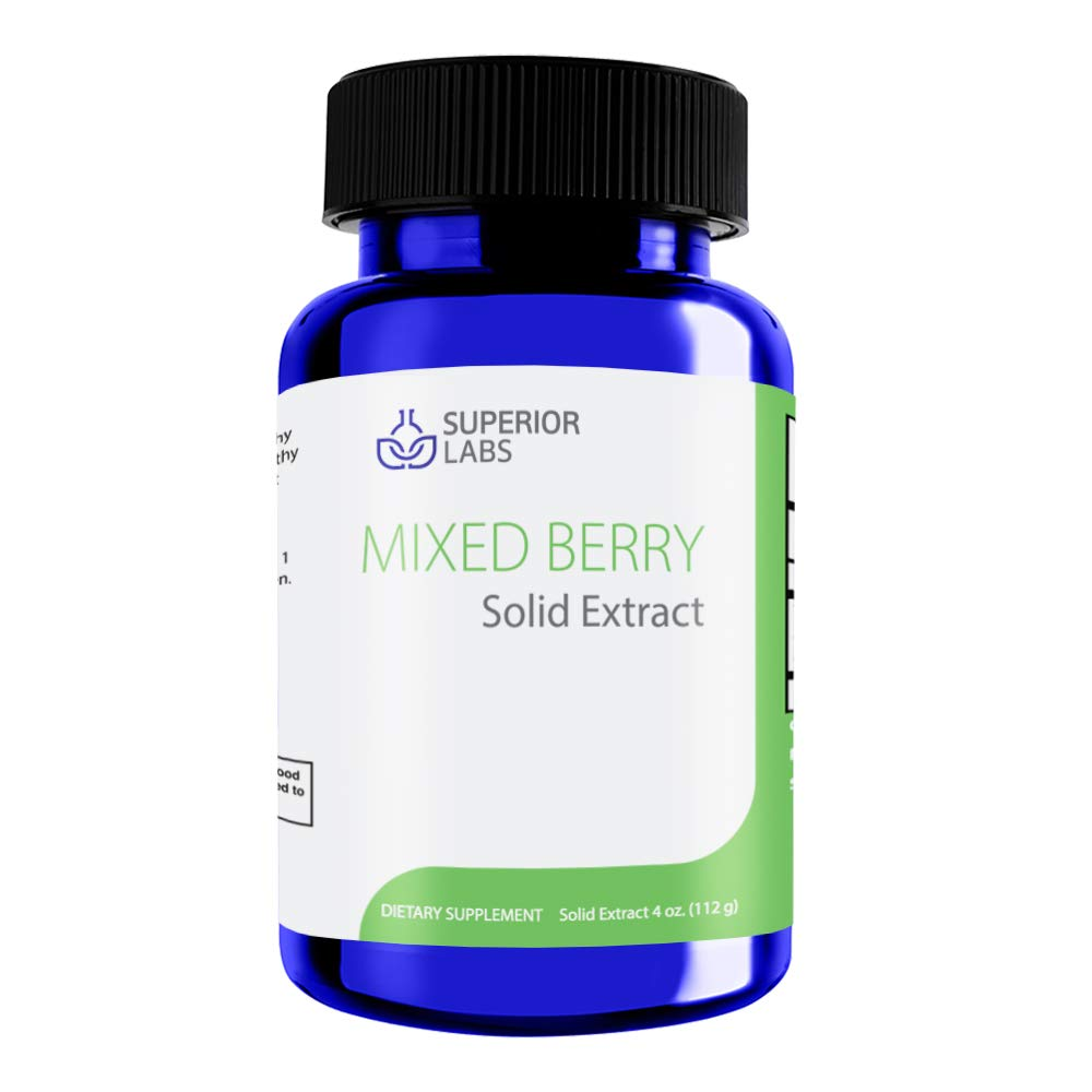 Superior Labs Mixed Berry Liquid Form Solid Extract – 4 oz – Promotes Healthy Vision and Immune Function – Supports Healthy Cardiovascular, Circulatory, and Urinary Tract Function