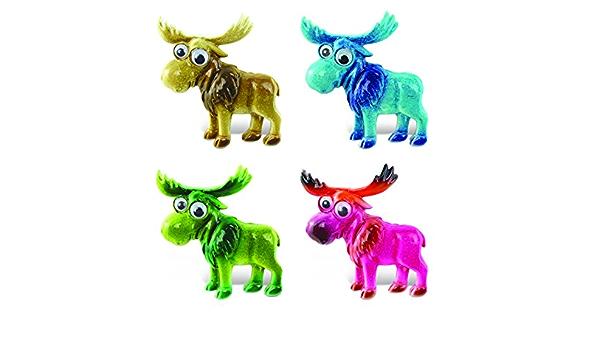 Amazon Com Cota Global Moose Refrigerator Bobble Eye Magnets Set Of 4 Assorted Color Fun Cute Wild Animal Big Eye Magnets For Kitchen Fridge Locker Home Decor Cool Office Decorative Novelty