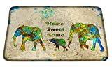 Meffort Inc Printed Soft Floor Door Mat Carpet/Area Entry Rugs for Kitchen Dining Living Hallway Bathroom - Family of Elephants, Large Size