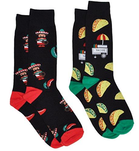 Mens Novelty Socks Trouser Crew - 2 Pair Set - Choose Prints