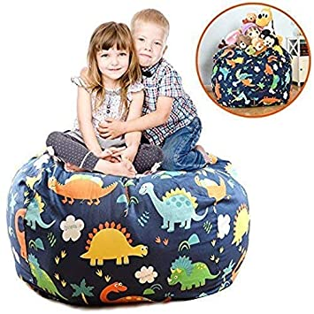 Phenomenal Brolex Extra Large 38 Stuffed Animals Bean Bag Chair Cover 100 Cotton Canvas Kids Toy Storage Zipper Bags Comfy Pouf For Unisex Boys Girls Toddlar Caraccident5 Cool Chair Designs And Ideas Caraccident5Info