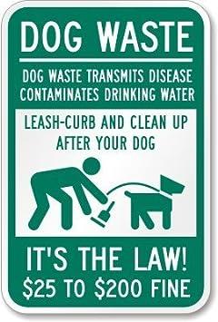 Verde beenanas - cartel metálico, diseño de perro WALKER ...