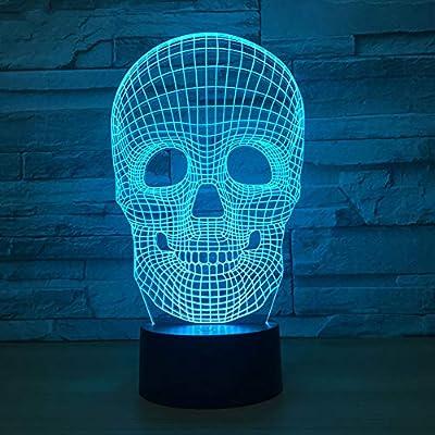 DECORATZ - Lámpara de Mesa 3D Inteligente, táctil, Control Remoto ...