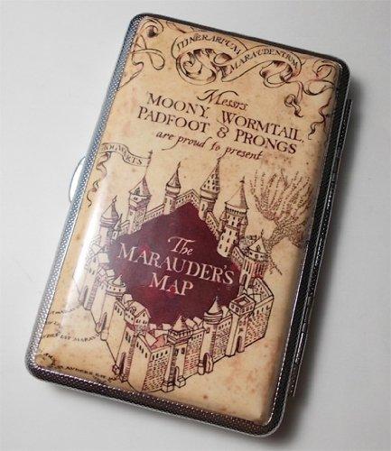 Harry Potter Marauders Map 100s Cigarette Case Wallet Card Holder