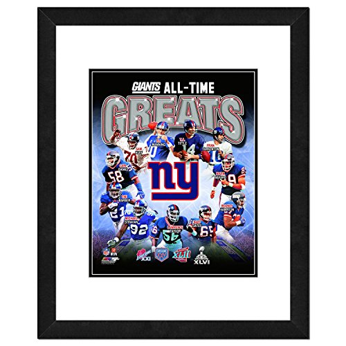NFL New York Giants Men's All Time Greats Framed Photo, One Size, Multicolor ()
