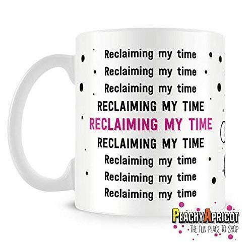 PeachyApricot Maxine Waters Reclaiming My Time 11 Ounce Ceramic Coffee Mug