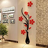 Home Accessories 3d Wall Decoration Wall Hangings Creative Ceramic Flower Wall Murals Removable Wall Decals