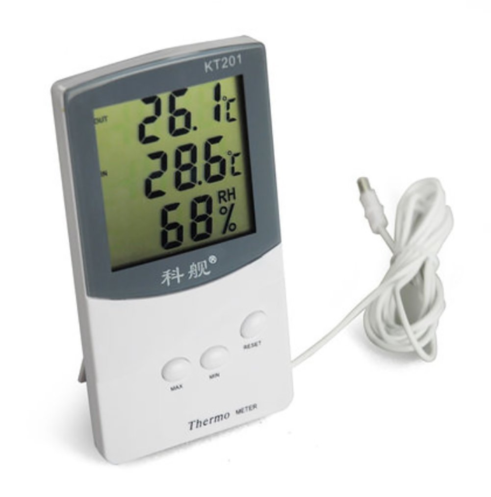 RUIX Thermo-Hygrometer With Probe Fish Tank Refrigerator