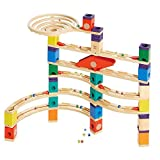 Hape Quadrilla Wooden Marble Run Construction -Xcellerator - Quality Time Playing Together Wooden Safe Play - Smart Play for Smart Families