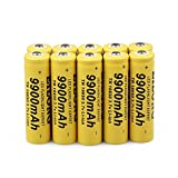 4PCS 18650 Battery 3.7V 6000mAh Batteries high-capacity Rechargeable Li-ion Battery and Li-ion Battery Charger