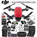 DJI Spark Portable Mini Drone Quadcopter Fly More Combo Everything You Need Bundle (Lava Red)