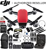 DJI Spark Portable Mini Drone Quadcopter Fly More Combo Bundle (Lava Red)