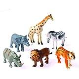 Dozen Plastic Toy Safari Animals