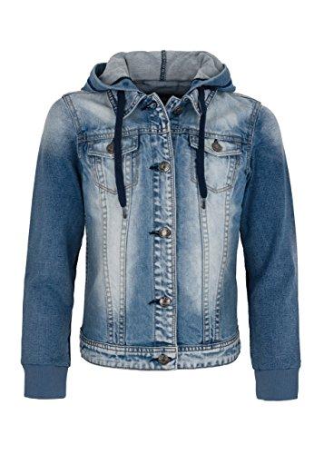 Million X Mädchen Jeansjacke mit Kapuze 164, light blue denim