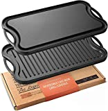 Legend Cast Iron Griddle for Gas Stovetop | 2-in-1