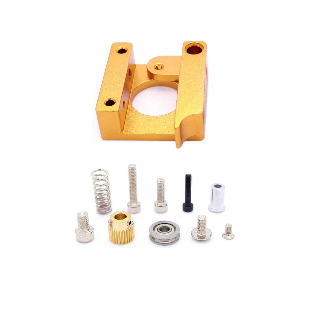 ReliaBot MK8 Extruder Aluminum Block Left Hand Frame DIY Kit for Delta Prusa i3 3D Printer