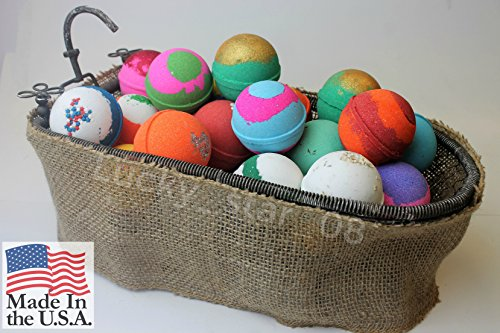 Bath bombs set of 10 large bath bombs | Ultra lush and luxurious | Made in USA