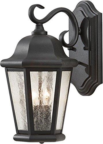 Feiss OL5901BK Martinsville Outdoor Patio Lighting Wall Lantern, Black, 2-Light (8