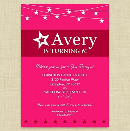 amazon com american girl doll themed party invitations handmade