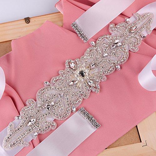 Perles De Femmes Azalées Robes De Demoiselle D'honneur Mariée Ceintures Taille Vantaux Violet Antique