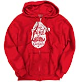 Brisco Brands Happy Holiday Swag Bag Christmas Shirt Santa Claus Zipper Hoodie