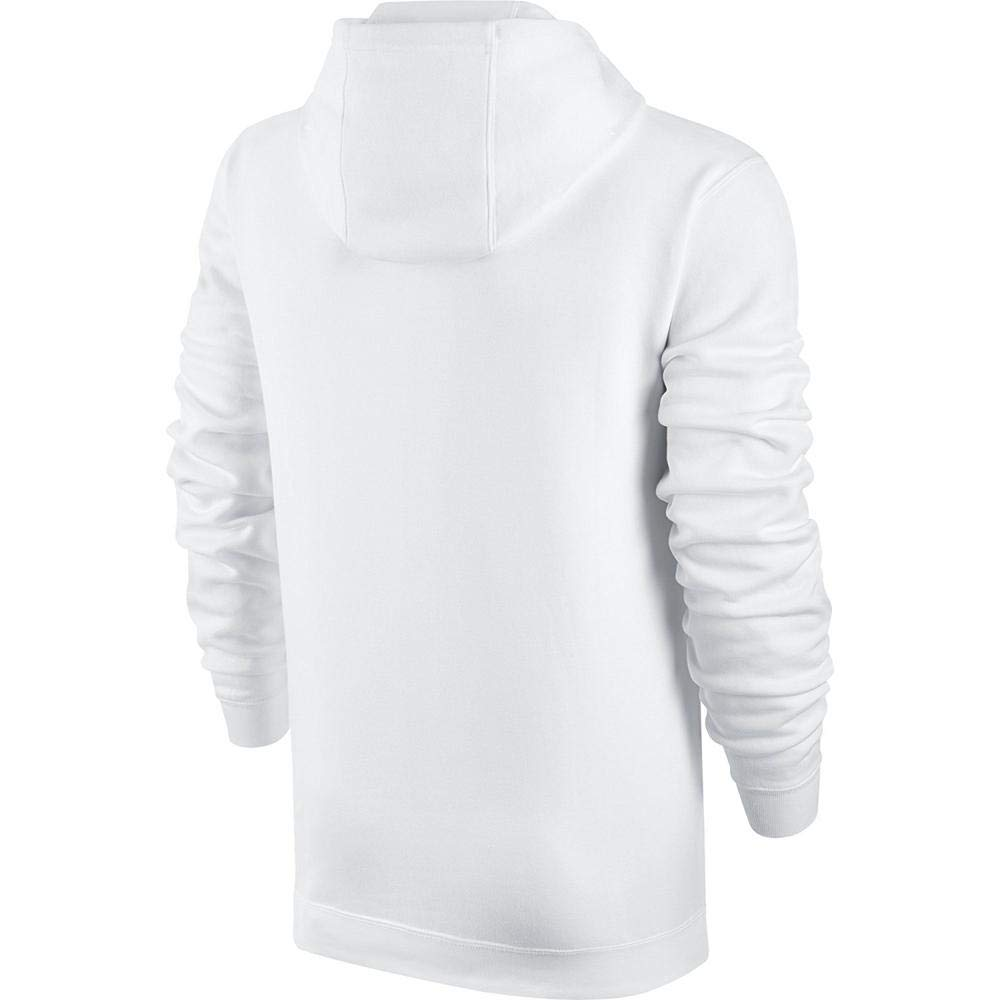 Men's Nike Sportswear Club Pullover Hoodie, Fleece Sweatshirt for Men with Paneled Hood, White/White/Black, XS by Nike (Image #4)
