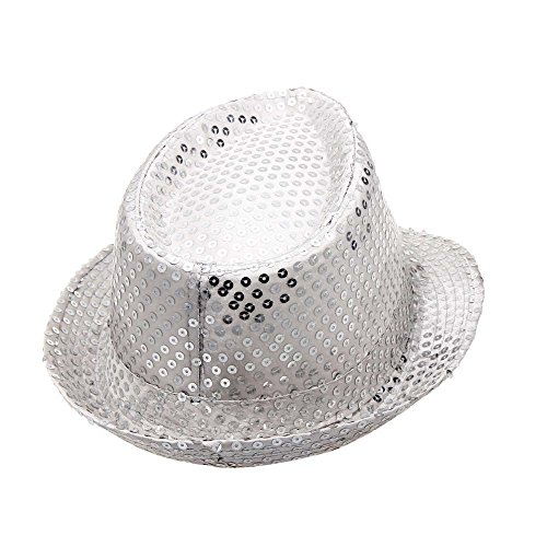 2019 DORIC Sequined Hat Hat Hat Dance Stage Show Performances Solid Color Relaxed Adjustable by DORIC (Image #1)