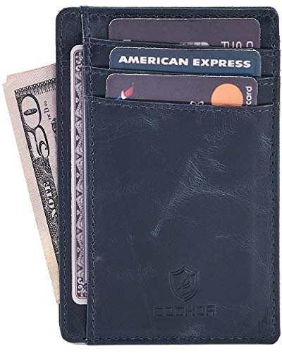 - COCHOA Men's Credit Card Holder Wallet Case Front Pocket 3.1