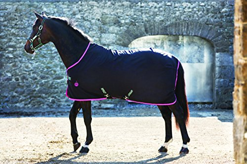 Horse Stable Blanket (Horseware Amigo Stable Sheet 78 Black/Purple)