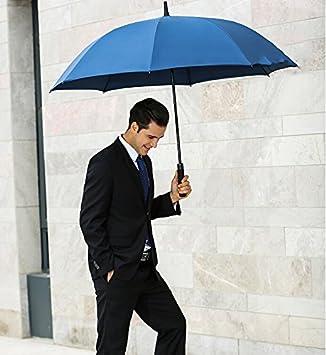paraguas Grandes hombres y mujeres de viento sartén paraguas al aire libre creativa de matrimonio automática