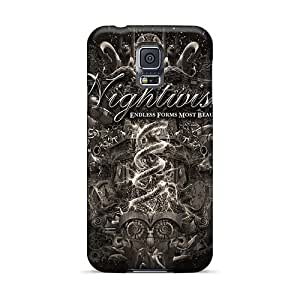 Shock-Absorbing Hard Phone Covers For Samsung Galaxy S5 With Unique Design Fashion Moonspell Band Morbid God Pattern TammyCullen